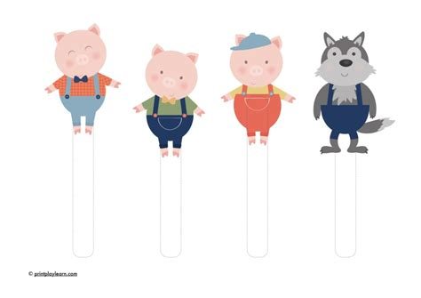 the three pigs puppet templates three pig puppets free teaching resources print