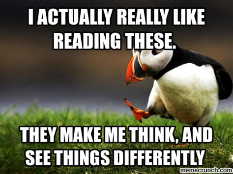 Reading Meme - i actually really like reading these