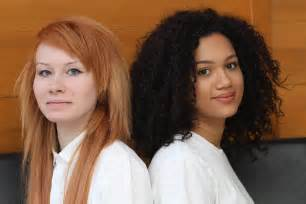 british twins one black one white from a mixed race