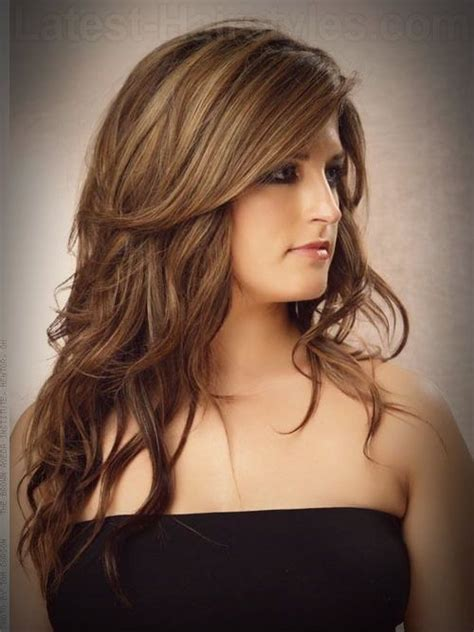 layered long haircut with height on top short layers long hair hair pinterest short layers