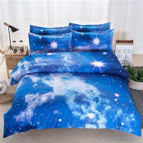 galaxy bedding queen galaxy cosmos pattern 3d printed single queen king size