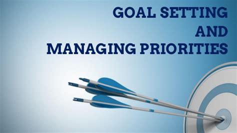 goal setting and managing priorities by samuel akinlotan