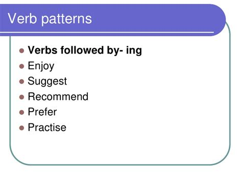 verb pattern of suggest verb patterns quantity