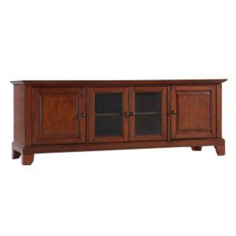 crosley newport low profile tv stand in cherry kf10005cch