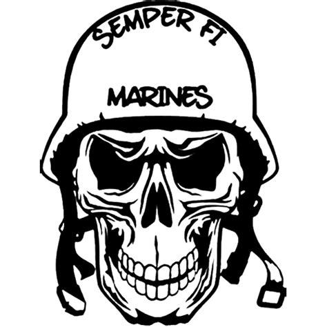 Gildan Custom Graphic Tshirt Marine Pirate Flag semper fi marines skull die cut vinyl decal pv117