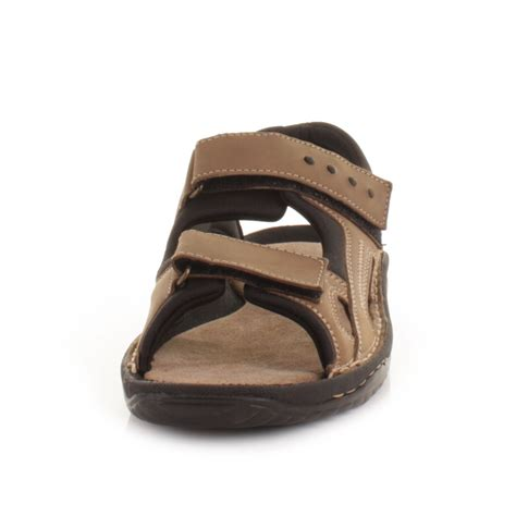 mens sandals with velcro straps mens leather summer walking outdoor velcro