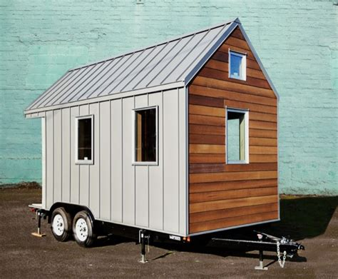 small houses on wheels the miter box modern tiny house on wheels by shelter wise llc