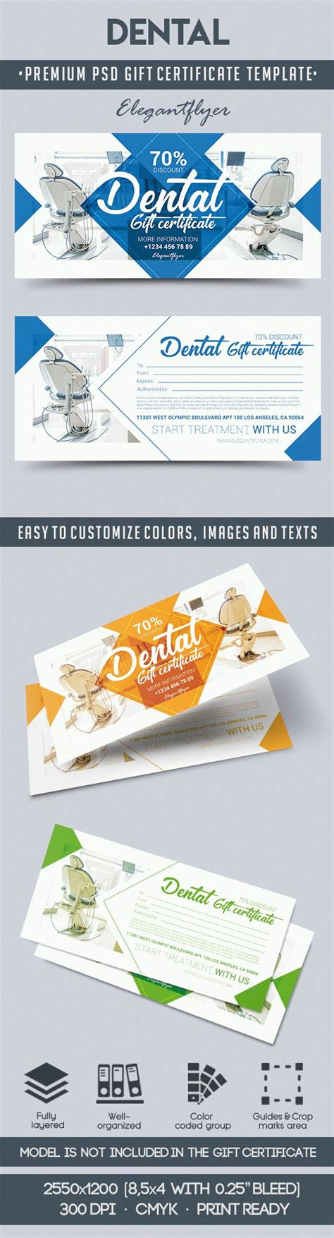 dental gift certificate template dental gift voucher by elegantflyer