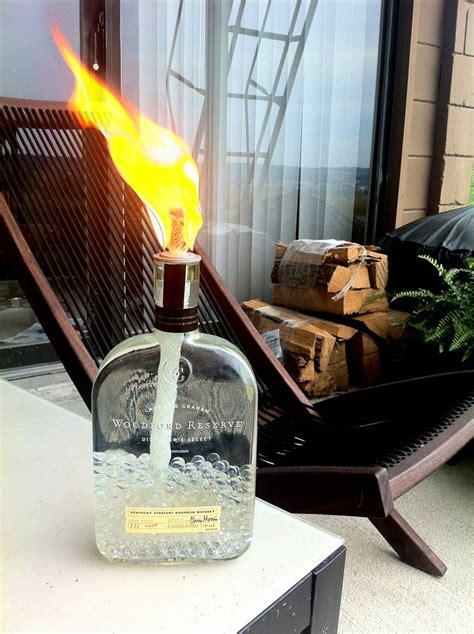 Handmade Torch - diy woodford reserve bourbon bottle tiki torch design