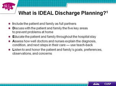 discharge planning from hospital to home patient and family engagement agency for healthcare research quality