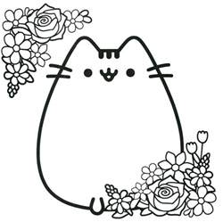 pusheen coloring pages 94 best images about board mwdpitv on cat