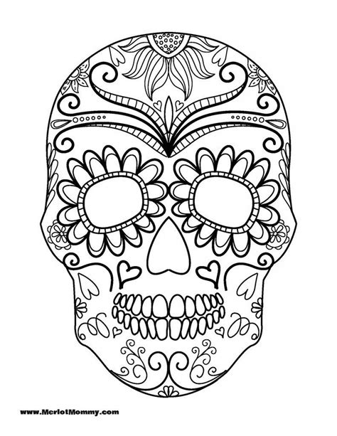 sugar skull coloring pages pdf free click here to download the pdf for the sugar skull