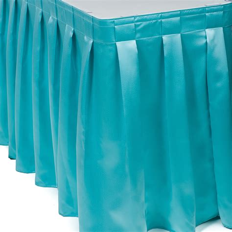 Linen Table Skirts by Mystique Satin Startex Linen Companystartex Linen Company