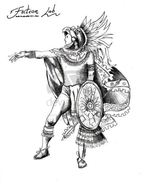 Aztec Warrior Drawing Jaguar Warrior Tattoo Drawing Real Aztec Warrior Tattoos Drawings