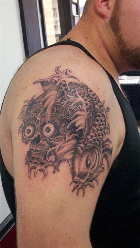 tattoo koi fish skull 7 best koi tattoo images on pinterest koi japan tattoo