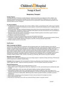 sle resume for respiratory therapist exles objective statement resume executive
