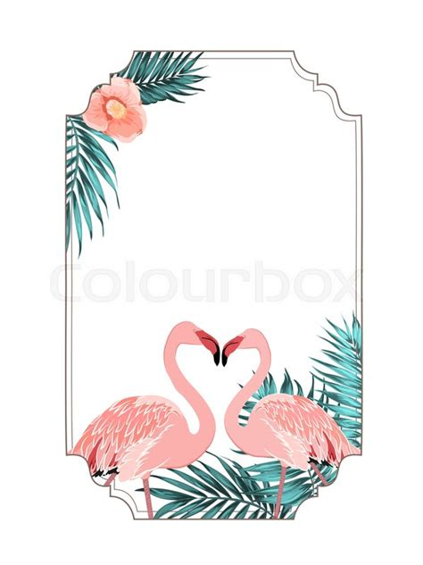 exotic tropical border frame template for event invitation