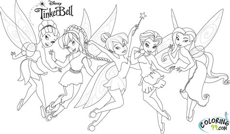 Coloring Pages Of Tinkerbell And Friends tinkerbell and friends coloring pages minister coloring