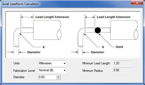 axial resistor calculator lead width on axial through pcb libraries forum