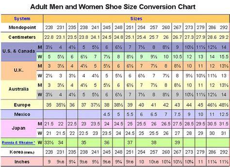 Shoe Size Chart China | china size conversion images