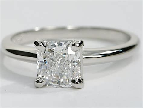 classic solitaire engagement ring in platinum engagement