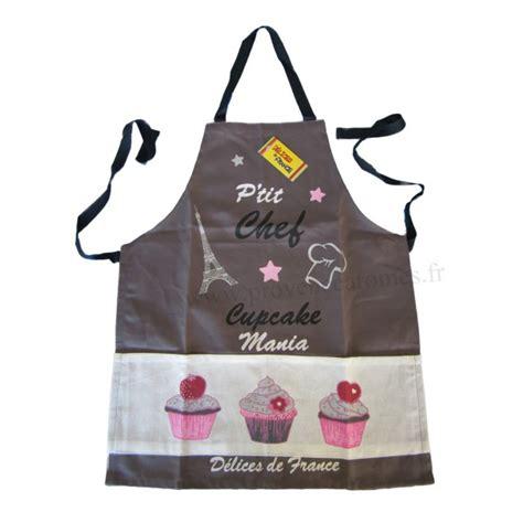 tablier de cuisine pour enfants tablier de cuisine enfant cupcake p chef gris