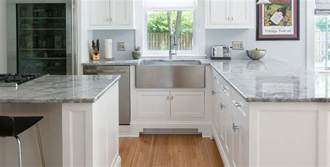 Light Blue Countertops by Diagenesis Gray And Light Blue Kitchens