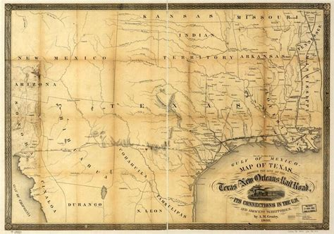 1800 texas map maps civil war