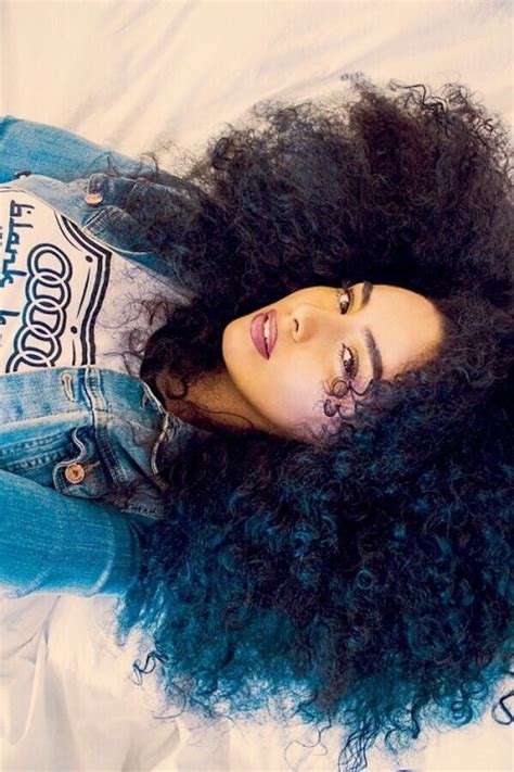 natural hair color with blue 25 best ideas about dyed curly hair on pinterest crazy