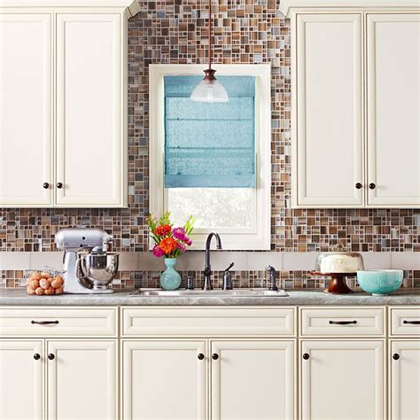 backsplash it would go with the stone around the island cream color cabinet vignette tile backsplash to ceiling