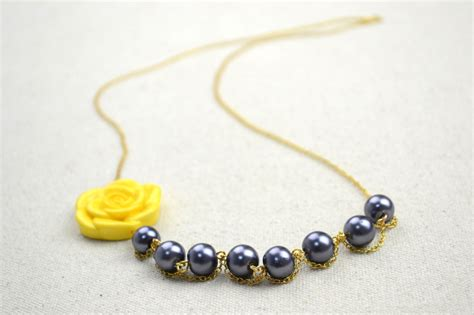 handmade jewelry pearl necklaces with an adorable