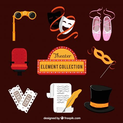 design elements in theatre theater elements collection vector free download
