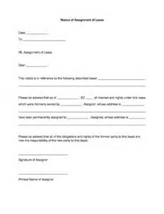 notice of assignment of lease business forms
