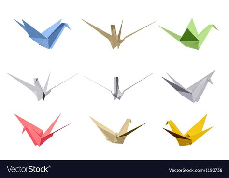 origami triangle style elements vector sign