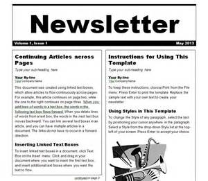 Newsletter Template In Word by Newsletter Template Newsletter Templates Word