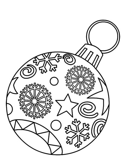christmas ornament tree to color ornament coloring pages festival collections