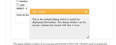 jquery ui layout options jquery ui dialog option exle