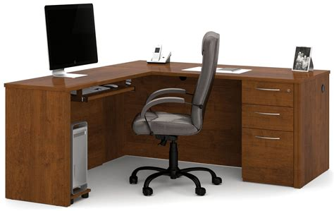 brown l shaped desk embassy tuscany brown l shaped desk from bestar 60873 63