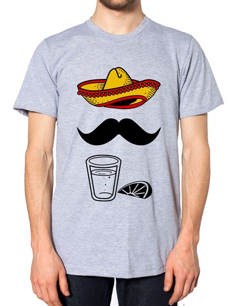 design t shirt hipster mexican sombrero moustache tequila tshirt funny hipster t