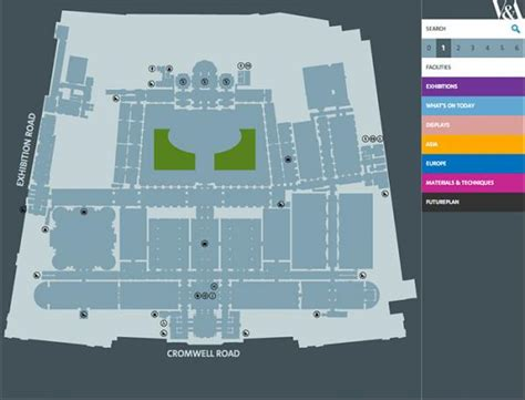 victoria and albert museum floor plan the v a digital map victoria and albert museum