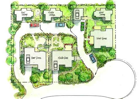 neighborhood plans 124 best pocket neighborhood site plans images on