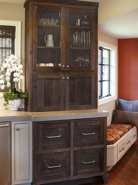 Cabinets and lower with drawers    Eclectic Kitchen Design