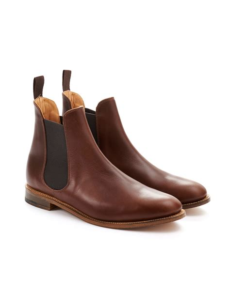 womens chelsea boots brown on the hunt