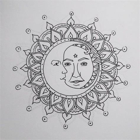 sun and moon mandala drawing google search