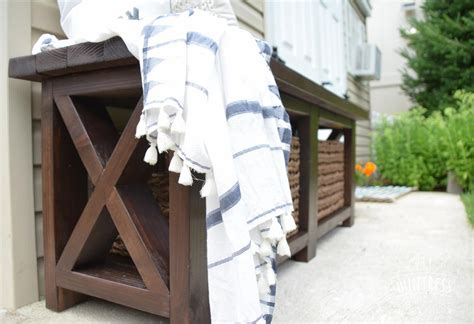 diy x bench diy rustic x bench with shelf buildsomething com