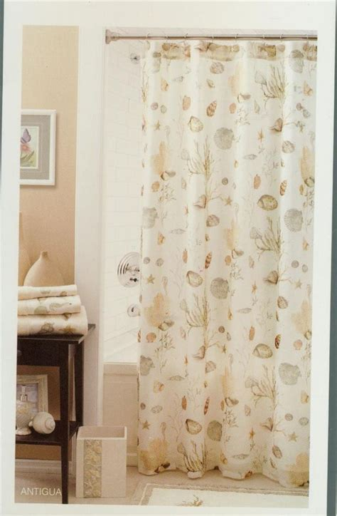 seashell shower curtains seashell shower curtains seashell and snady decorate