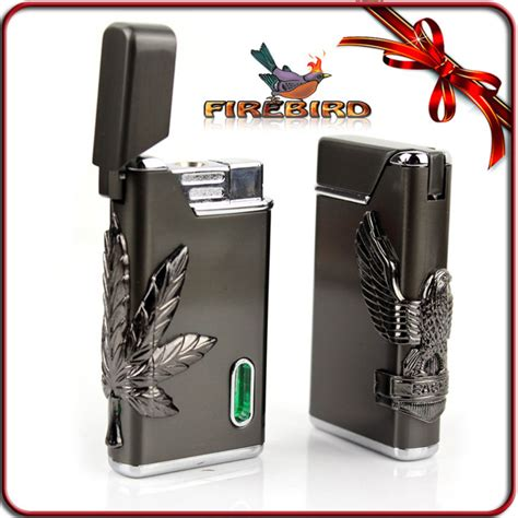 Housing L Cigarette Lighter Green Led firebird classic leaf flash green led light cigarette jet windproof lighter theherbcloud