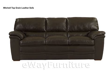 top grain leather sofas mitchell top grain leather sofa