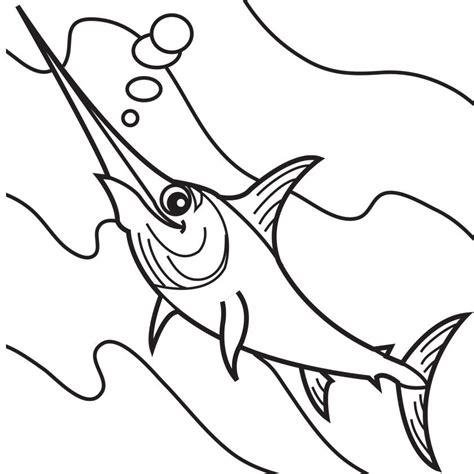 swordfish coloring page coloring home