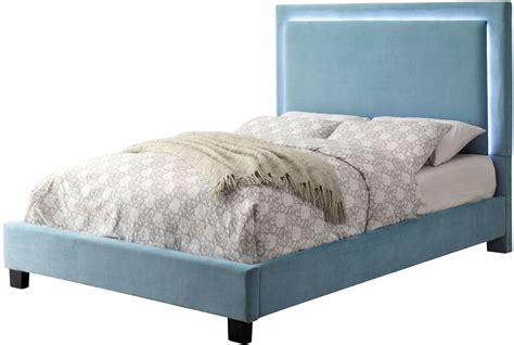 blue twin bed erglow i blue twin upholstered panel bed cm7695bl t